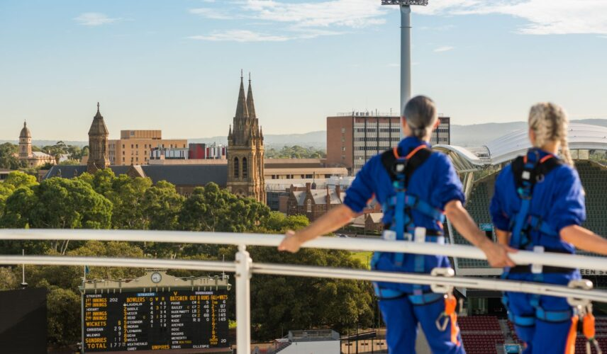 Adelaide Oval RoofClimb. Adelaide, South Australia, Itinerary. Cultural Attractions of Australia. Image credit: Che Chorley.