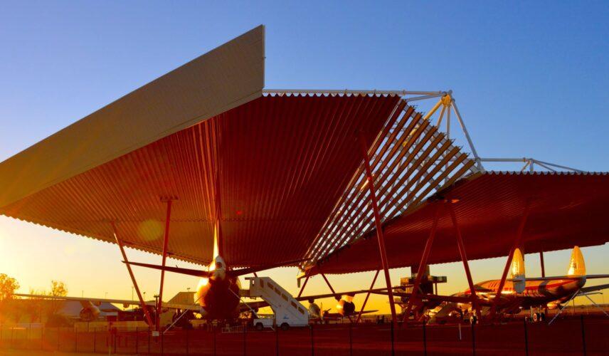 Airpark behind sunset