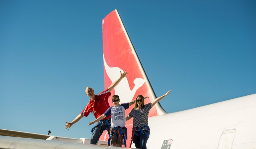 747 Wing Walk. Qantas Founders Museum, Longreach, Queensland. Cultural Attractions of Australia.