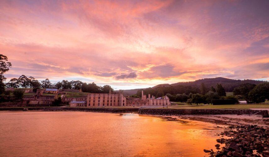 Port Arthur Historic Site sunset