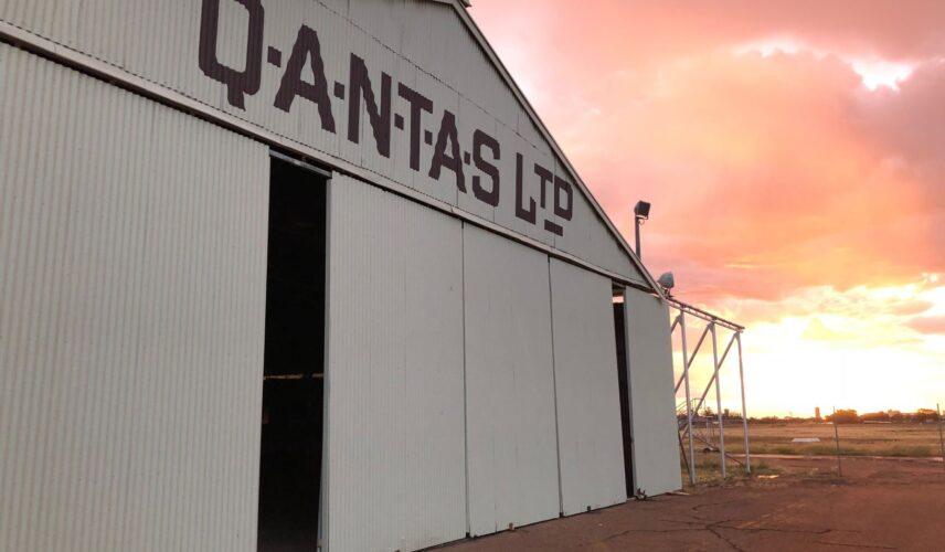 Qantas Hangar sunset