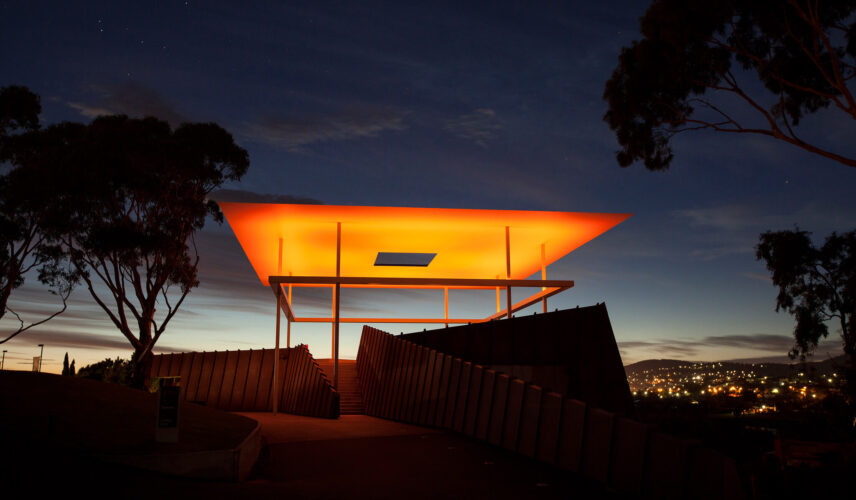 The Full-On Turrell AMARNA 2015 James Turrell MONA. Hobart and the Tasman Peninsula, Tasmania. Cultural Attractions of Australia.