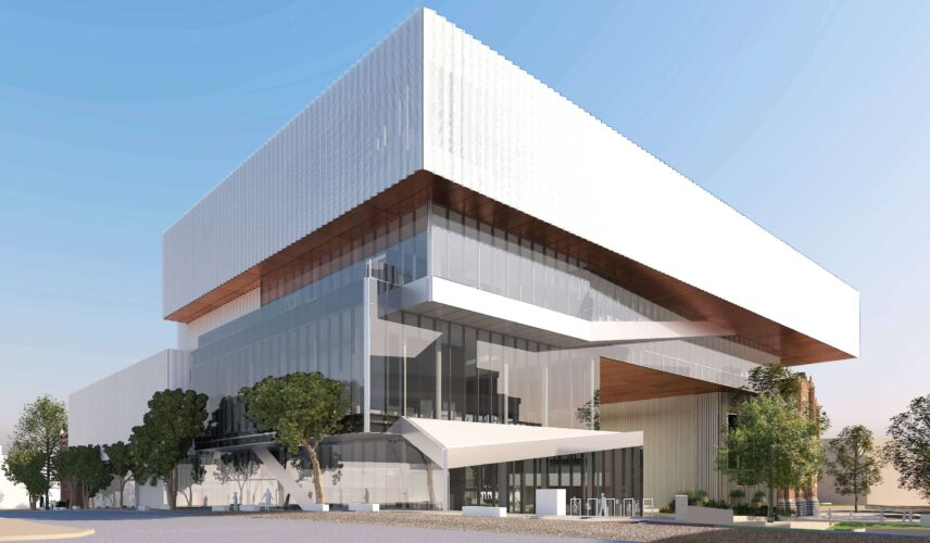 New Museum for WA view from Francis Street (c) WA Museum, image courtesy Multiplex, HASSELL+OMA REDUCED