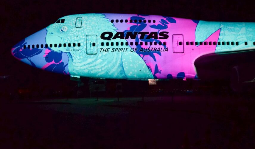 Qantas Founders Museum Sound and Light Show Testing 2 small