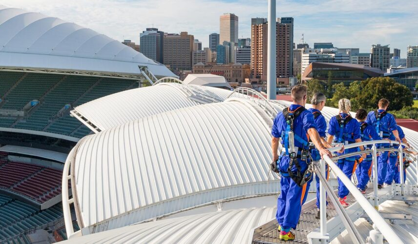 Wonders of Adelaide RoofClimb Experience. Cultural Attractions of Australia.