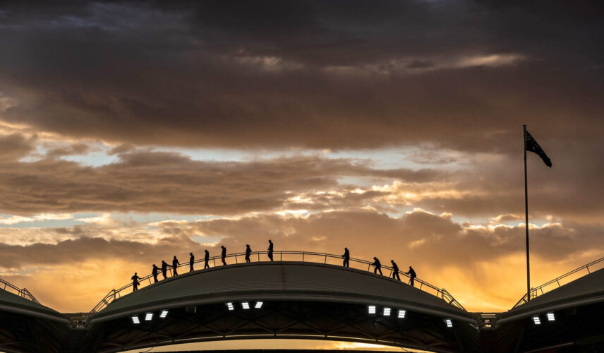 RoofClimb Twilight. Adelaide Oval. Cultural Attractions of Australia. Image credit: John Montessi.