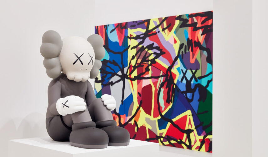 Installation view of KAWS: Companionship in the Age of Loneliness at NGV International. Photo © Tom Ross